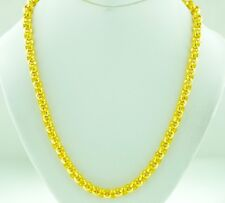 24K Yellow gold Necklace 45.60 Gram Solid Chain Rolo link Handmade made in USA