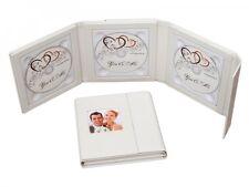 Elegant 3er CD/DVD/Blueray Hülle. DVD Case für 3 Disk mit Bildfenster. Farbe Wei