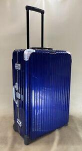 """RIMOWA LIMBO 28"""" Upright Wheeled Large Suitcase Midnight Blue Polycarbonate Rare"""