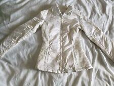 Bebe Sport Women's White Zip Jacket Size Small