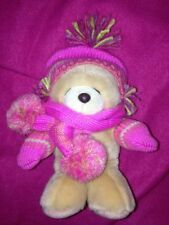 Forever Friends Winter Hat Scarf & Gloves Teddy Bear Soft Toy 8""