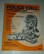 Police Call Radio Directory 1980 Data Frequencies Call Letters De Md Nj Pa Vol 2