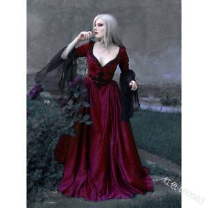 Victorian Women Princess Dress Halloween Medieval Carnival Retro Cosplay Costume