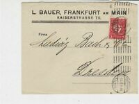 Germany Frankfurt 1922 to Dresden Two Cancels Stamps Cover Ref 31806