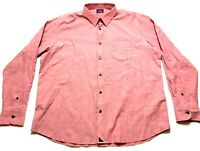 Untuckit Mens Red Front Pocket Button Front Long Sleeve Shirt Size 2XL