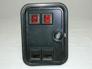 Vintage COIN CONTROLS Arcade Video Game Metal Coin Door w 25cent Mechanism
