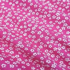 Stoff Meterware Baumwolle Popeline Blumen Mille Fleur pink weiß geblümt