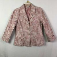 Vintage Tommy Bahama Blazer Jacket Size 8, Women's Pink Floral Jacket Coat