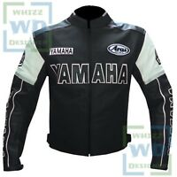 JACKET FOR MOTORCYCLE FOR SALE. 0820 YAMAHA Black Motorbike Cowhide Racing Coat
