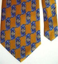 "Henry Grethel Men's Silk Novelty Neck Tie Yellow 3 7/8"" x 57"""