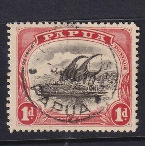 PAPUA 1913 Lakatoi 1d red & black wmk swys p12½ VFU cv £12   1581