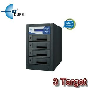 EZ Dupe 1 to 3 Hard Drive SSD Duplicator & Eraser - SATA HDD Cloner 300mbps
