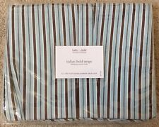 Restoration Hardware Baby & Child Italian Bold Stripe Cotton Full Bed Skirt New
