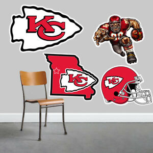 Kansas City Chiefs Wall Art 4 Piece Set Large Size------New in Box------