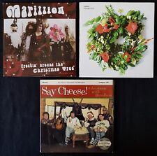 MARILLION Collection CHRISTMAS 3 x CD SINGLE SAY CHEESE! JINGLE PROGGIN'  LOT