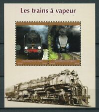 Chad 2015 MNH Steam Trains Engines Locomotives 2v M/S Rail Railways Stamps