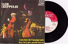 LED ZEPPELIN IMMIGRANT SONG ERROR PRESS 1970 RARE RECORD SPAIN 7' PS 45 rpm