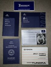 Tundra 07 2007 Toyota Owners Owner's Manual Set