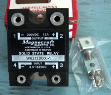 2 MAGNECRAFT NOS NIB 200 VDC 12amp DC 3.5 to 32VDC Control Direct Current SSR