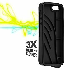 Vaas Boost Sound Amplifer Hard Slim Snap Cover Case for iPhone se 5s 5 Black New