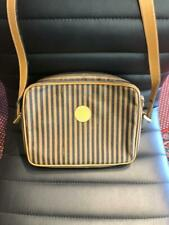 Fendi Authentic Vintage Striped Cross body Bag/ Clutch/ Case/Purse