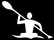 Kayak Canoe Paddle funny vinyl decal car bumper sticker 256