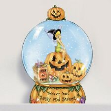 Trick or Treat Sassy Sweet Tinker Bell Halloween Miniature Snowdome Water Globe