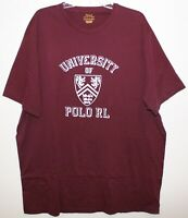Polo Ralph Lauren Big & Tall Mens 1XB Burgundy Red Univ. of Polo T-Shirt NWT 1XB