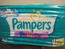 VINTAGE year 2000 Pampers Baby-Dry Diapers Size 1 8-14lbs 40 Ct