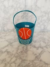 Novelty Basketball felt basket great for Easter or collecting Halloween candy.