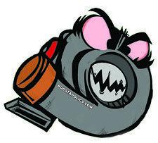 Turbo sticker 120 mm x 105 mm cartoon DIECUT multi-color high quality decal