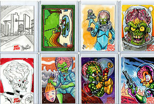 Mars Attacks! Occupation Invasion - Sketch Autograph Plate Metal Card Selection