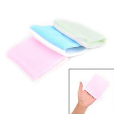 Microfiber Facial Sponge Face Towel Makeup Remover Washing Cleansing Puff Glove@