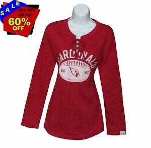 Nfl Womens Apparel * Arizona Cardinals Womens Nfl Lace-Up Fleece Sweatshirt, MED