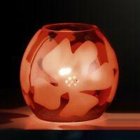 Glas Tischleuchte Dekorativ orange Wohnzimmer Tischlampe Nachttisch Leuchte E14