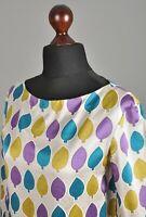 Women's MARNI Italy Boat Neck Blouse Long Sleeve Silk Multicoloured Size 42