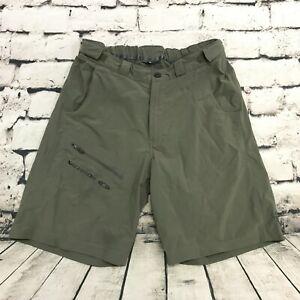 Salomon Men's Shorts Gray Hiking Stretch Adjustable Waist Size 32