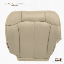 2000 2001 2002 Chevy Tahoe Suburban Driver Bottom Leather Seat Cover Light Tan
