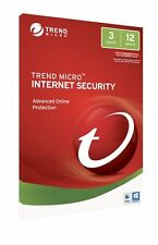 Trend Micro Internet Security 2017-2018 Antivirus 3 Users 1 Year PC MAC Product
