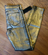 GOLD Metallic KORAL Jeans NWT Skinny Coated Jeans size Waist 26 NEW