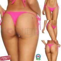 COQUETA SWIMWEAR BRAZILIAN BIKINI teeny swimsuit thong whaletail Bottom HOT PINK