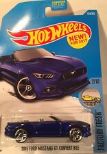Hot Wheel 2015 Ford Mustang GT Convertible Diecast metal toy scale 1/64 Mattel.