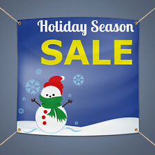 Holiday Season Sale Banner Outdoor Business Shop Advertising Vinyl Sign 3' X 2'