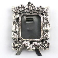 MINIATURE ART NOUVEAU STYLE FLORAL STANDING PHOTO FRAME STERLING SILVER 925