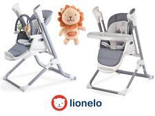 Lionelo Niles 2en1 Chaise Haute Convertible - Gris