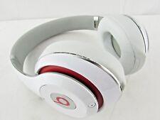 Beats Studio2 Wired Headphones - White / Red