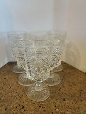 Set of 5 Vintage Wexford Goblets 6.5 inches Tall