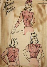1940s Advance Vintage Sewing Pattern 4059 Vest Size Medium