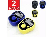2-Pack DIGITAL LCD ELECTRONIC FINGER RING HAND TALLY COUNTER TASBEE TASBIH