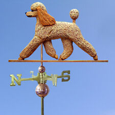Poodle Hand Carved Hand Painted Basswood Dog Weathervane Apricot